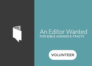 Editor Volunteer